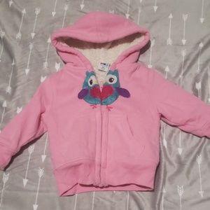 12 month girl zip up fur hoodie